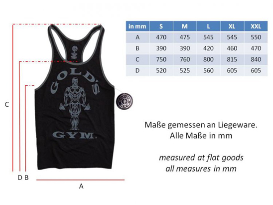 Muscle Joe Stringer Tank GGVST004 black grey tabb548