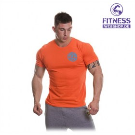 Gold's Gym BASIC LEFT BREAST T-SHIRT Orange günstig kaufen bei FitnessWebshop !