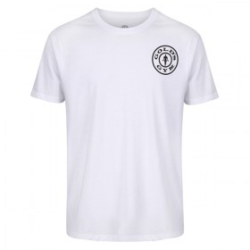 Gold's Gym BASIC LEFT BREAST T-SHIRT White günstig kaufen bei FitnessWebshop !