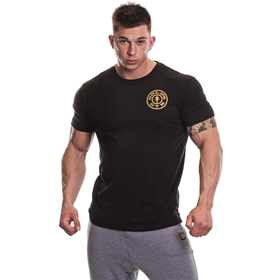 Gold's Gym BASIC LEFT BREAST T-SHIRT Black günstig kaufen bei FitnessWebshop !