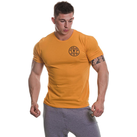 Gold's Gym BASIC LEFT BREAST T-SHIRT Gold günstig kaufen bei FitnessWebshop !