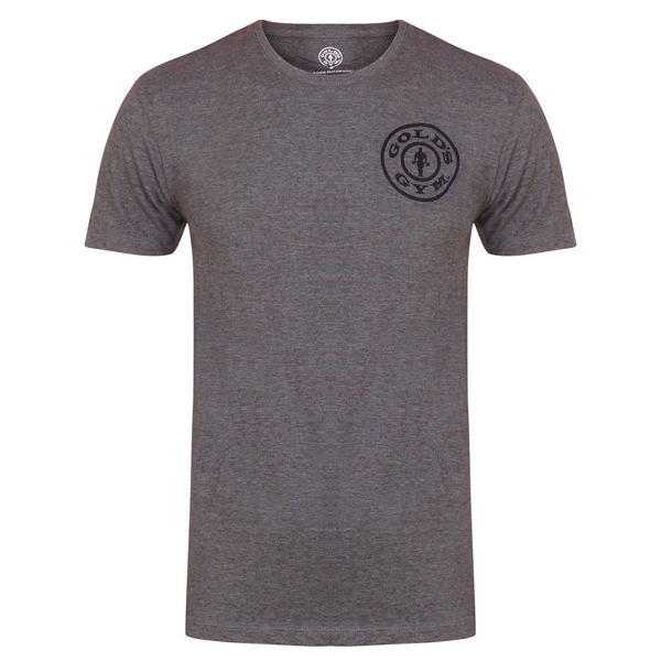 Gold's Gym BASIC LEFT BREAST T-SHIRT Grey Marl günstig kaufen bei FitnessWebshop !