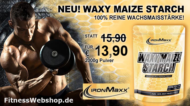 IronMaxx WAXY MAIZE STARCH Pulver kaufen
